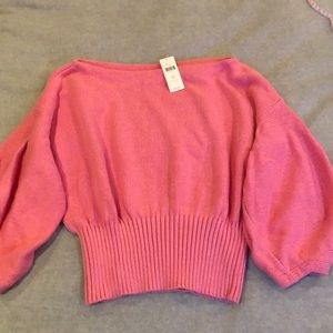 Anthropologie Pink Knitted & Knotted Sweater